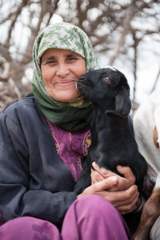 Um Naseem and Her Goat, Orjan, Jordan.  She was one of the first